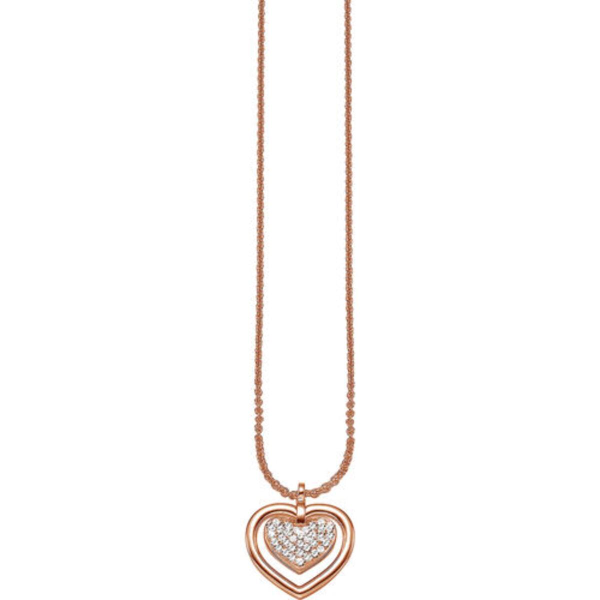 """Bild 3 von Esprit Kette mit Anhänger """"Sentiment Within ESNL91573B"""", 925er Silber, roségold"""