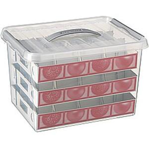 Sunware Weihnachtskugelbox mit Einsatz ,  22 l