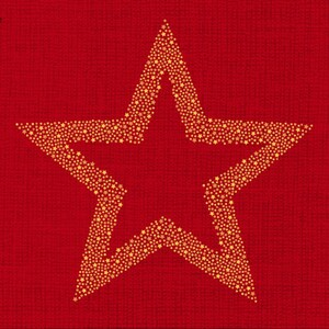 Braun & Company Servietten Motiv Avantgarde Briliant Star rot ,  33 x 33 cm, 20er Pack