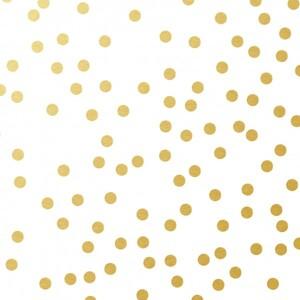 Braun & Company Servietten Motiv Avantgarde Golden Dots weiß ,  33 x 33 cm, 20er Pack