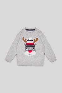 Baby-Weihnachtspullover - Bio-Baumwolle