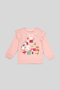 Baby-Weihnachts-Sweatshirt - Glanz Effekt