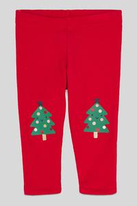 Baby-Weihnachts-Leggings - Glanz Effekt