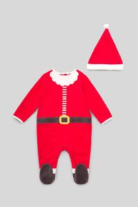 Baby-Weihnachts-Schlafanzug - Bio-Baumwolle - 2 teilig