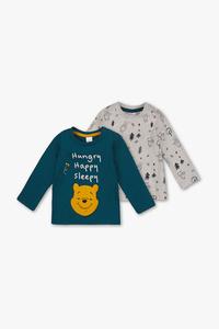 Winnie Puuh - Baby-Langarmshirt - Bio-Baumwolle - 2er Pack