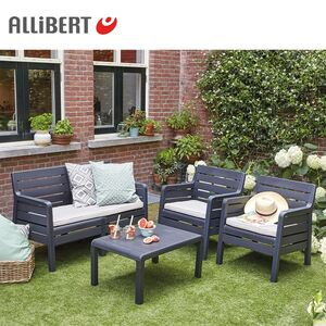 Allibert Garten-Sitzgruppe Windsor Graphit