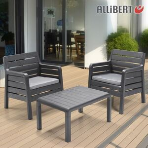 Allibert Balkon-Sitzgruppe Windsor Graphit