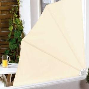 Balkon-Sichtschutzfächer, pulverbeschichteter Stahlrahmen, Stoffbezug aus Polyester, Gewicht: ca. 1,58kg