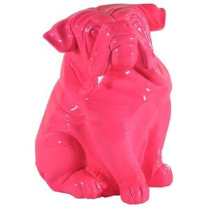 Deko-Bulldogge sitzend 29,5cm Pink