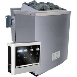 Karibu Bio-Kombi-Saunaofen 9 kW Edelstahl inkl. Steuerungsgerät Easy