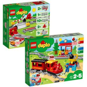LEGO® DUPLO Bundle 10874 Dampfeisenbahn und 10882 Eisenbahnschienen