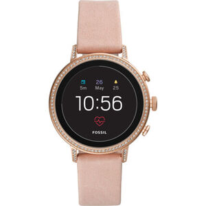 "Fossil Smartwatches Damen Touchscreen Smartwatch Venture HR ""FTW6015"", rosa"