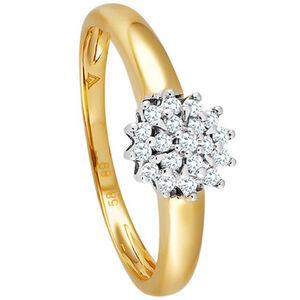 Vandenberg Damen Ring, 585 Gelbgold mit Brillanten, 58, gold