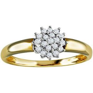 Vandenberg Damen Ring, 585er Gelb-/Weißgold mit Brillanten, 54, bicolor