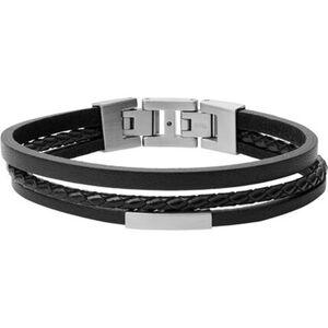 "Fossil Herren Armband Vintage Casual ""JF03322040"", schwarz, keine Angabe"