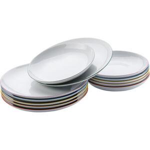 Arzberg Porzellan-Tafel-Set Cucina Colori, 12-teilig, Weiß/Farbig