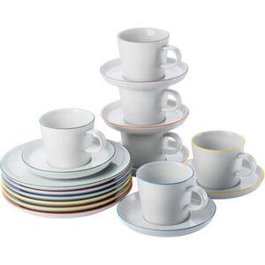 "Arzberg Kaffee-Set ""Cucina Colori"", 18-teilig, Weiß/Farbig"
