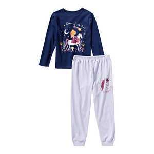 Mädchen-Schlafanzug mit Einhorn-Aufdruck, 2-teilig