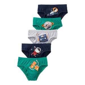Jungen-Slip mit Weltraum-Motiven, 5er Pack