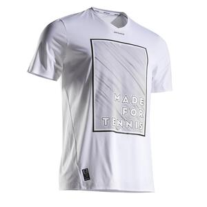 Tennisshirt 900 Herren Light 900 weiß/gelb