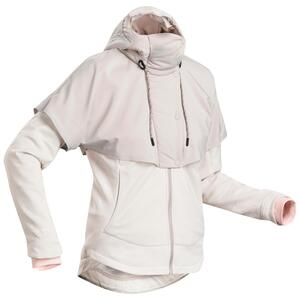 Hybrid-Sweatshirtjacke Naturwandern NH500 Damen beige