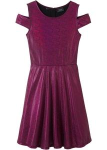 Glitzer-Cold-Shoulder-Kleid