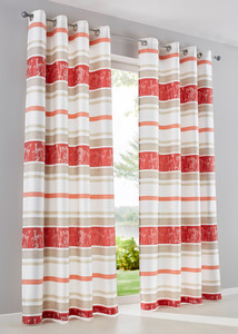 Jacquard Vorhang mit Querstreifen (1er Pack)