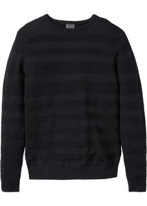 Pullover mit eingestrickten Streifen