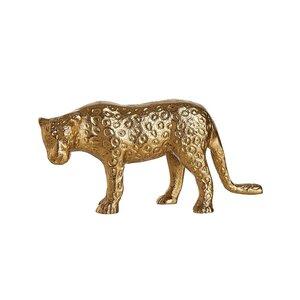 GOLDEN NATURE Deko Leopard