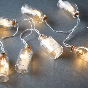 FEATHERS LED Lichterkette Glas mit Federn