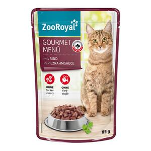20 x 85g ZooRoyal Gourmet Menü mit Rind in Pilzrahmsauce (Multipack)