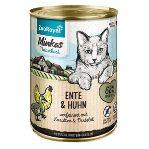 6 x 400g ZooRoyal Minkas Naturkost Adult Ente & Huhn verf.mit Karotten & Distelöl (Multipack)