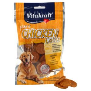 6 x 80g Vitakraft Hundesnack Chicken Hühnchentaler (Multipack)