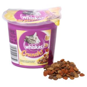 5 x 100g Whiskas Crunch mit Huhn, Truthahn & Ente (Multipack)