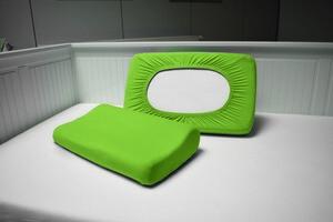 DREAMTEX Spannbezug 2er Set für Gesundheitskissen / Nackenstützkissen - Grün