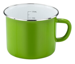 Casa Royale Emaille Milchtopf Green Star, Ø 14 cm