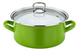 Casa Royale Emaille Bratentopf Green Star, Ø 16 cm