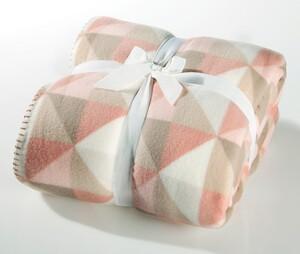 Bella Casa Polar-Wendedecke, ca. 130 x 170 cm - Trigon Taupe Soft Pink