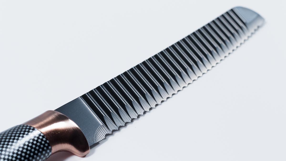 Bild 3 von KING 6tlg. Messerset Carbon Design 5 Messer im Set inkl. Messerblock