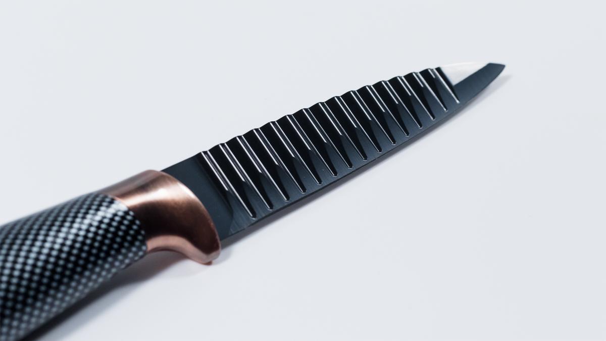 Bild 5 von KING 6tlg. Messerset Carbon Design 5 Messer im Set inkl. Messerblock