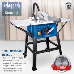 Scheppach Tischkreissäge HS260L, 2200 W