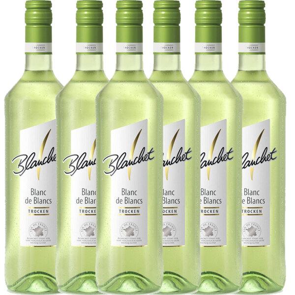 Blanchet Weißwein Blanc de Blancs Trocken - 6er Karton