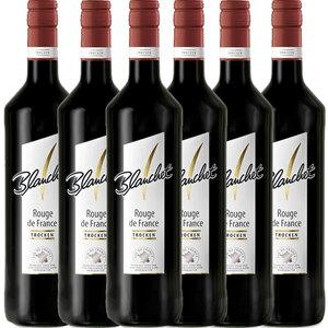 Blanchet Rotwein Rouge de France Trocken - 6er Karton