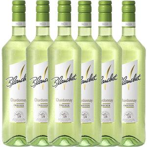 Blanchet Weißwein Chardonnay Trocken - 6er Karton
