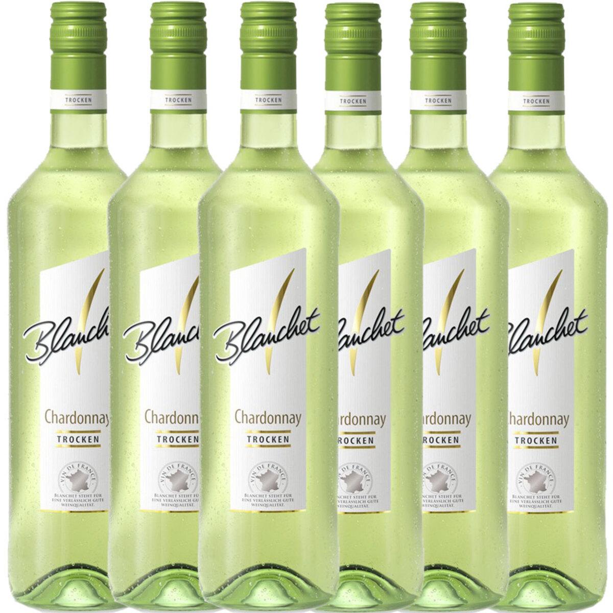 Bild 1 von Blanchet Weißwein Chardonnay Trocken - 6er Karton