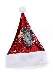 Weihnachtsmannmütze mit Glitzer