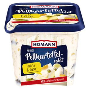Homann Feiner Pellkartoffelsalat mit Ei & Gurke jede 1-kg-Packung
