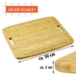 """Schneid-und Anrichtebrett """"Daboris"""" - Bambus - extragroße Arbeitsfläche - Maße: ca. H 2 x B 50 x T 40 cm"""