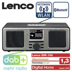 DAB+-Radio DIR-165BK mit Bluetooth® • 7-cm-TFT-LCD- Display • PLL-FM-Radio • 16 Watt RMS • 2 Weckzeiten • AUX-/LINE-Anschluss