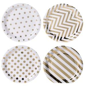 Pappteller Set rund 8 Stück mit verschiedenen Motiven